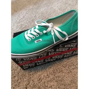 Teal-Green Authentic Vans